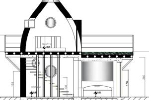 Casa de Hiperadobe com Domo e Teto verde